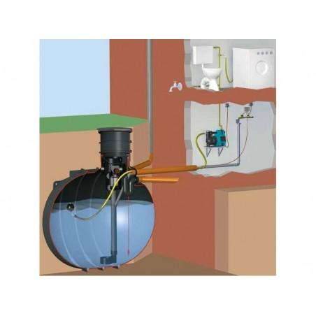 Zestaw domowy na wodę deszczową z filtrem przepływowym i zbiornikiem AquaKing