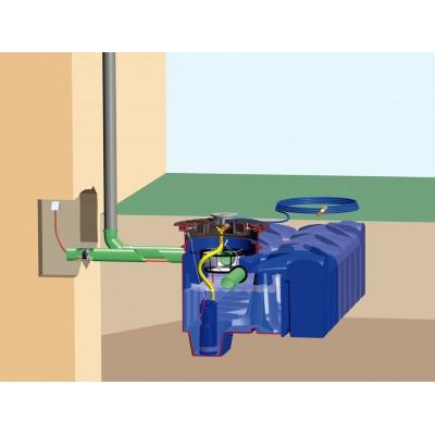 Zestaw ogrodowy CLASSIC na wodę deszczową z filtrem koszowym i zbiornikiem F-LINE