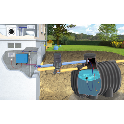 Zestaw domowo-ogrodowy STANDARD ze zbiornikiem EcoLine II
