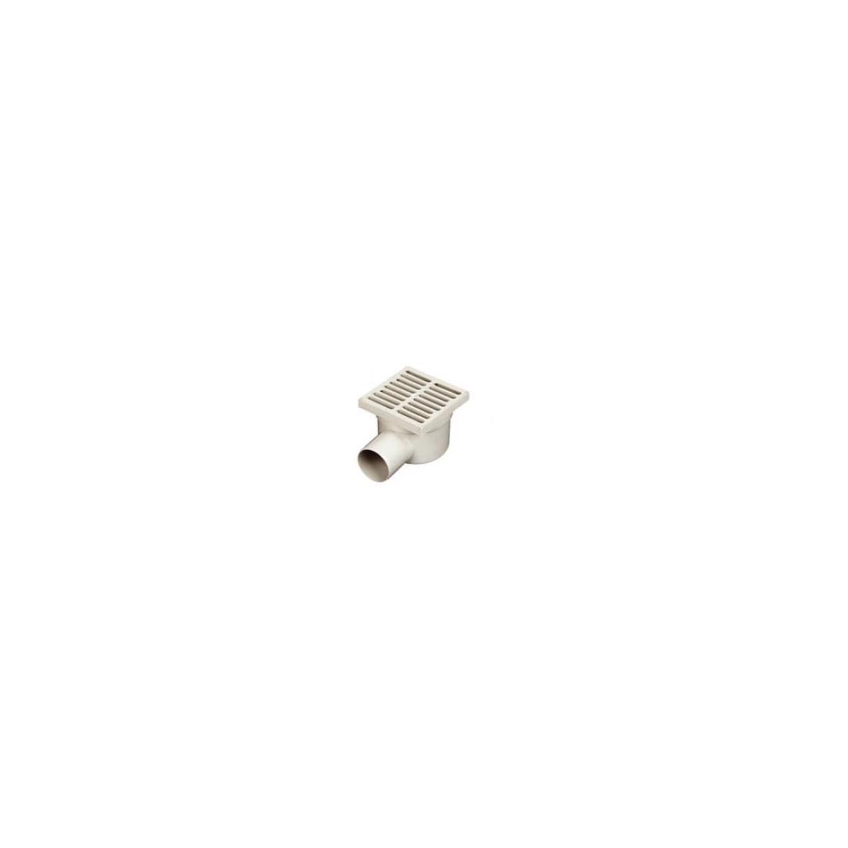 Wpust podłogowy 150x150, Φ50 poziomy