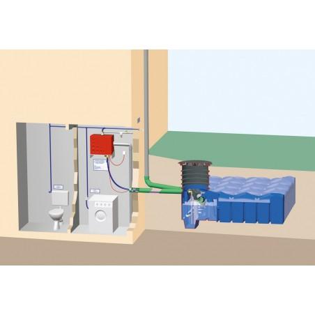 Zestaw domowy na wodę deszczową z filtrem przepływowym i zbiornikiem F-LINE