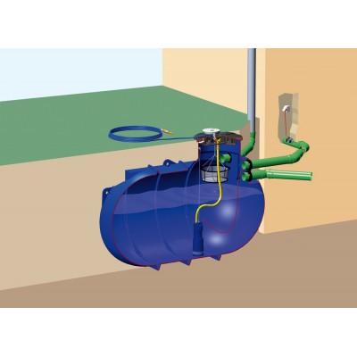 Zestaw ogrodowy CLASSIC na wodę deszczową z filtrem koszowym i zbiornikim BlueLine II